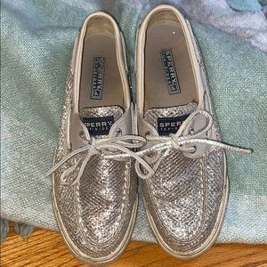 Sparkle Sperry Topsiders Size 7